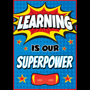 School Posters | Learning is our Superpower Classroom Poster.