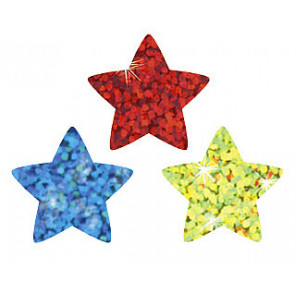 Star Stickers | Colourful Stars Sparkle Stickers. Value Pack