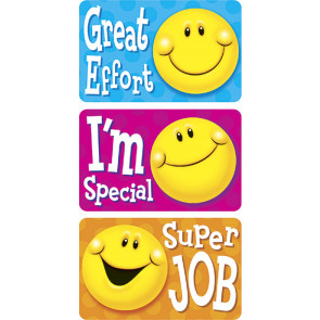 Smiley Statements Sticker Badges for Kids