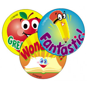 School Time Smelly Stickers for Kids (Apple Scented)