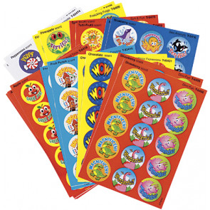Kids Stickers | Variety Pack for Teachers - Positive Words Smelly Stickers for School
