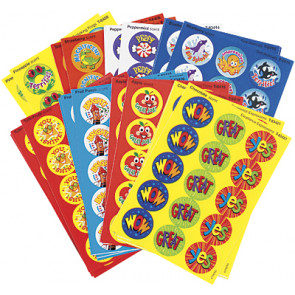 Kids Stickers | Scratch 'n Sniff Praise Word School Stickers