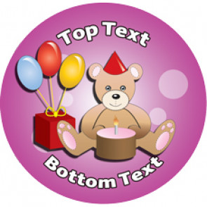 Personalised Stickers for Kids | Birthday Teddy Designs to Customise for Teachers