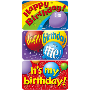 School Stickers | Birthday Time Sticker Badges for Kids