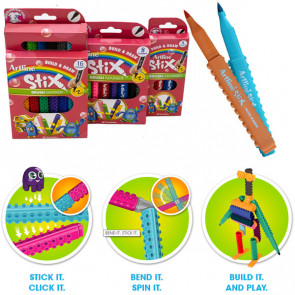 Stix Pens | Packs of Brush Nib Colouring Pens