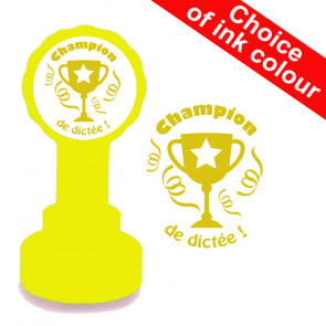French Teacher Stamp | Champion de dictée MFL Stamp
