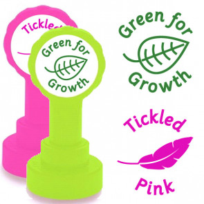School Stamps | Tickled Pink and Green for Growth 2 Stamp Set