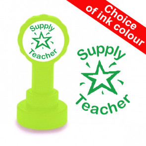 Teacher Stamp | Supply Teacher, Green Colour, Self-inking Stamp