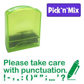 School Stamps | Please take care with punctuation, green ink, teacher stamp