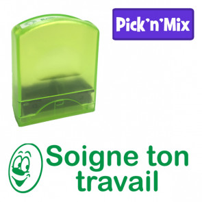 School Stamps | Soigne ton travail - French Design Value Stamp