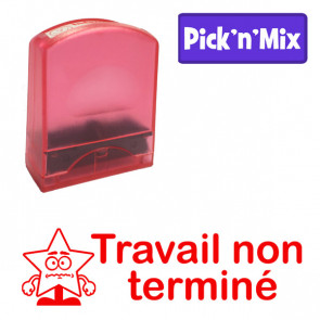 Teacher Stamps | Travail non terminé. Self-inking. Reinkable Value Range
