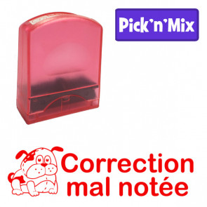 Teacher Stamps | Correction mal notée. Self-inking. Reinkable Value Range