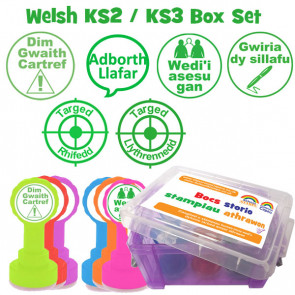 School Stamps | Welsh Language KS2 / 3 Marking Stamps Box Set