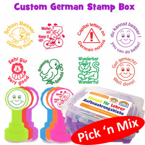 German Teacher Stamp Custom Box Set - Pick 'n' Mix Selection
