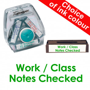 School Stamps   Work / Class Notes Checked Xstamper 3-in-1 Twist Stamp