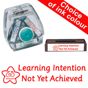 School Stamps | Learning Intention Not Yet Achieved - 3-in-1 Xstamper Twist Stamp