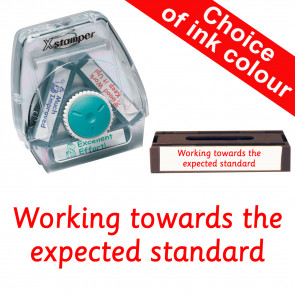 School Stamps | Working towards the expected standard. Xstamper 3-in-1 Twist Stamp