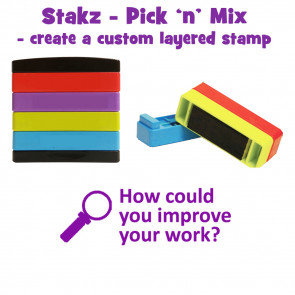 Teacher Stamps | How could you improve your work? Pick'n'Mix Stakz Layered Multistamp