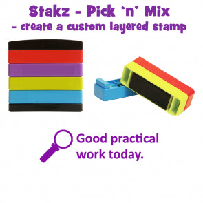 Teacher Stamps | Good practical work today. Pick'n'Mix Stakz Layered Multistamp.