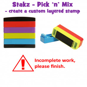 Teacher Stamps | Incomplete homework! Pick'n'Mix Stakz Layered Multistamp