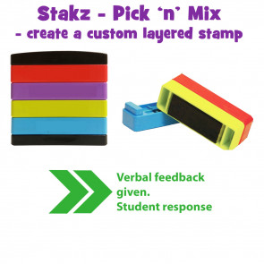 Teacher Stamps | >>Verbal feedback given. Student response Pick'n'Mix Stakz Layered Multistamp