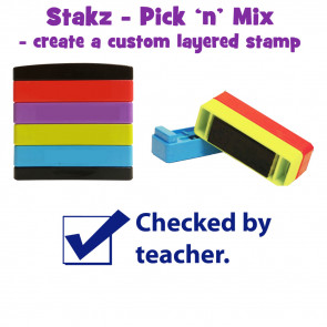 Teacher Stamps | Checked  by teacher Pick'n'Mix Stakz Layered Multistamp