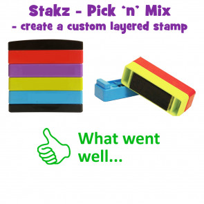 Teacher Stamps | What went well... Pick'n'Mix Stakz Layered Multistamp