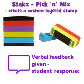 Teacher Stamps | Verbal feedback given - student response Pick'n'Mix Stakz Layered Multistamp