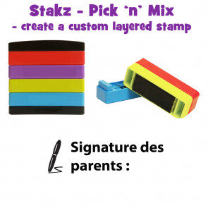 Teacher Stamps | Signature des parents : Pick'n'Mix Stakz Layered Multistamp