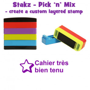 Teacher Stamps | Cahier très bien tenu Pick'n'Mix Stakz Layered Multistamp