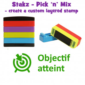 Teacher Stamps | Objecif atteint Pick'n'Mix Stakz Layered Multistamp