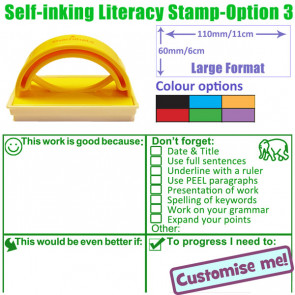 Teacher Stamper | Key Stage 2 & 3 Literacy Feedback with Checklist Targets Comprehensive Marking Stamp