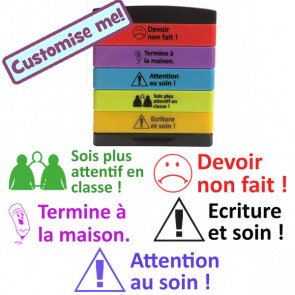 Teacher Multistamp | Attention au soin, Ecriture en soin, Devoir non fait, Sois plus attentif en classe, Termine à la maison-Teacher Multistamp