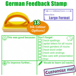 School Language Stamp | German Language Teacher Marking Stamp