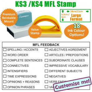 Teacher Stamp | MFL / Languages Feedback KS3/4 Large Format Stamp.