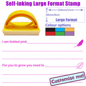 School Stamp | Tickled Pink / Green for Growth Marking Scheme