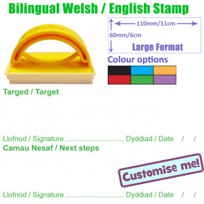 School Stamps | Welsh / English Next Steps & Target Stamp
