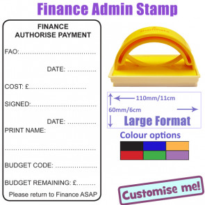 School Stamp | Finance Office, Payment Authorisation and Budget Control Self-inking Stamp
