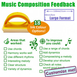 School Stamp | KS3 / 4 Music Composition Feedback Stamp