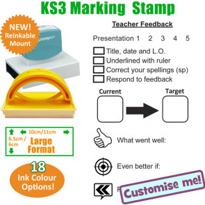 Large Teacher Stamps | Presentation / Target setting / Learning Objective Marking Stamp