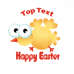 Personalised Stickers for Teachers | Crazy Chick Easter Sticker - Customise with your message or name at the top