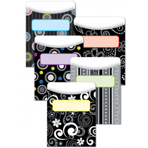 Classroom Organisation Resources   Library Pockets - Black and White