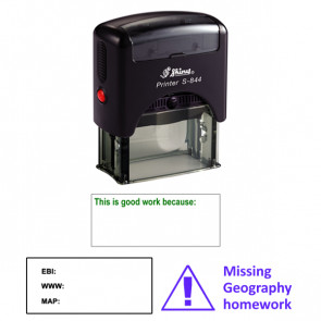 Custom Stamp | Ideal as personalised school stamp or address stamp