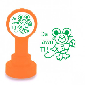 Teacher Stamp | Welsh Praise Messages - Da lawn Ti ! (Very Well Done)