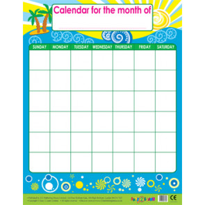 Wall Calendar | Monthly Calendar Wipe Off Poster