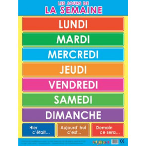 School Educational Posters | French Telling Time for Classroom Displays