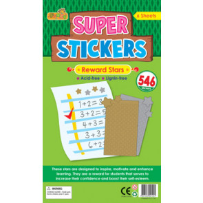 Teacher Stickers | Gold and Silver Stars - Reward Stickers for Schools - 546 Sticker Pack