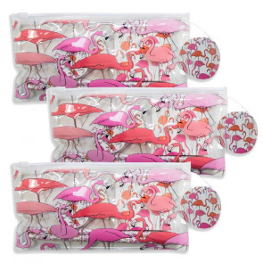 Flamingo Theme Stationery   Great Value Filled Flamingo Pencil Cases
