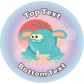 Personalised Stickers for Teachers | Goofy Alien Design to Customise for Kids