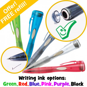Stamp Pen | Green Tick Clix Pen with Stamp
